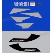 Kit Jogo Emblema Adesivo Suzuki Gs500 Azul Gs500