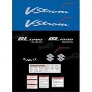 Kit Jogo Faixa Adesivo Resinado Suzuki Vstrom Dl1000 Azul