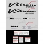Kit Jogo Faixa Adesivo Resinado Suzuki Vstrom Dl1000 Prata