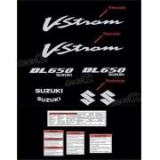 Kit Jogo Faixa Adesivo Resinado Suzuki Vstrom Dl650 Preta