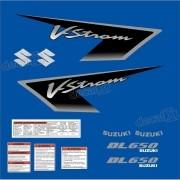 Kit Jogo Faixa Adesivo Suzuki Vstrom Dl650 2005 À 2008 Azul