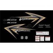 Kit Jogo Faixa Adesivo Suzuki Vstrom Dl650 2009 Preta