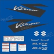 Kit Jogo Faixa Adesivo Suzuki Vstrom Dl650 Azul