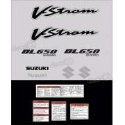 Kit Jogo Faixa Adesivo Suzuki Vstrom Dl650 Prata
