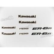 Kit Jogo Faixa Emblema Adesivo Kawasaki Er-6n