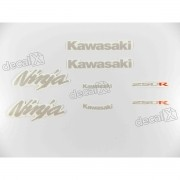 Kit Jogo Faixa Emblema Adesivo Kawasaki Ninja 250r