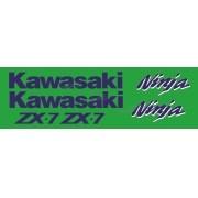 Kit Jogo Faixa Emblema Adesivo Kawasaki Ninja Zx-7 1990
