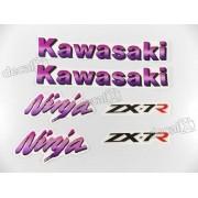 Kit Jogo Faixa Emblema Adesivo Kawasaki Ninja Zx-7 1995