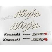 Kit Jogo Faixa Emblema Adesivo Kawasaki Ninja Zx-7 1998