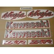Kit Jogo Faixa Emblema Adesivo Kawasaki Ninja Zx-7 1999