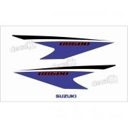 Kit Jogo Faixa Emblema Adesivo Rabeta Suzuki Gs500 Gs514