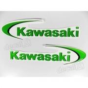 Par Adesivos Kawasaki Resinado 15x4 Cms re19