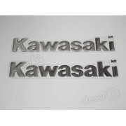 Par Adesivos Kawasaki Resinado Cromado 18x3 Cms Re21