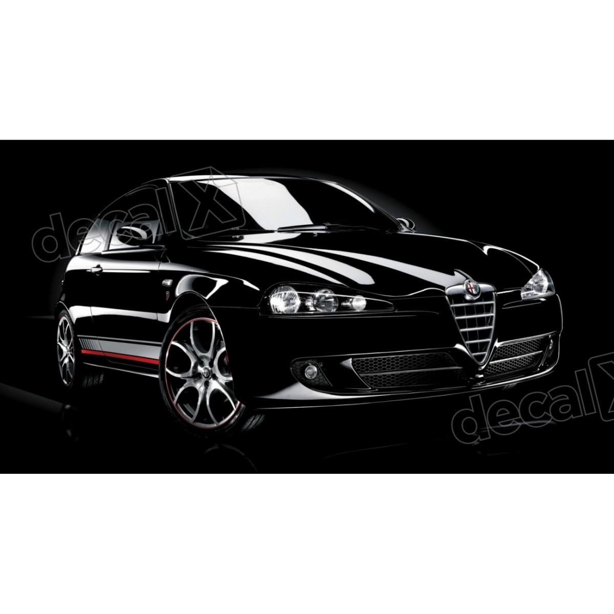 Adesivo Alfa Romeo Faixa Lateral 3m Fa03