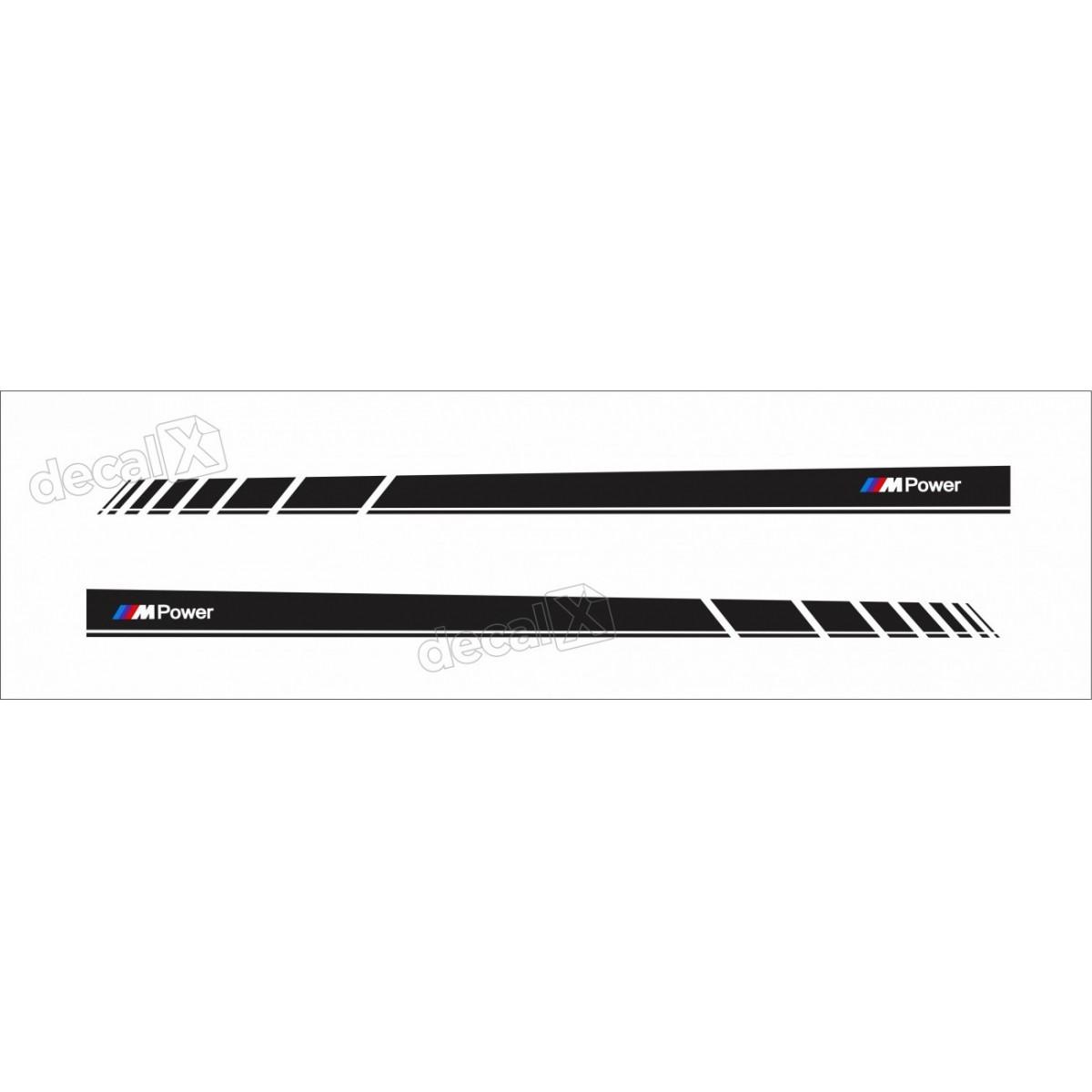 Adesivo Bmw Faixa Lateral Serie 3 Power Bw29