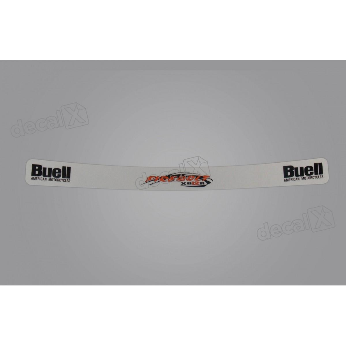 Adesivo Capacete Viseira Refletivo Buell 22x2 Cms Vis04