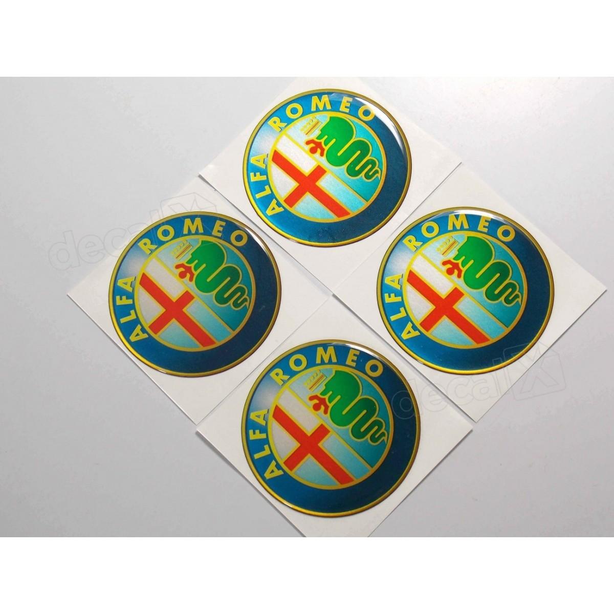 Adesivo Emblema Resinado Roda Alfa Romeo 58mm - Cl2 - Decalx