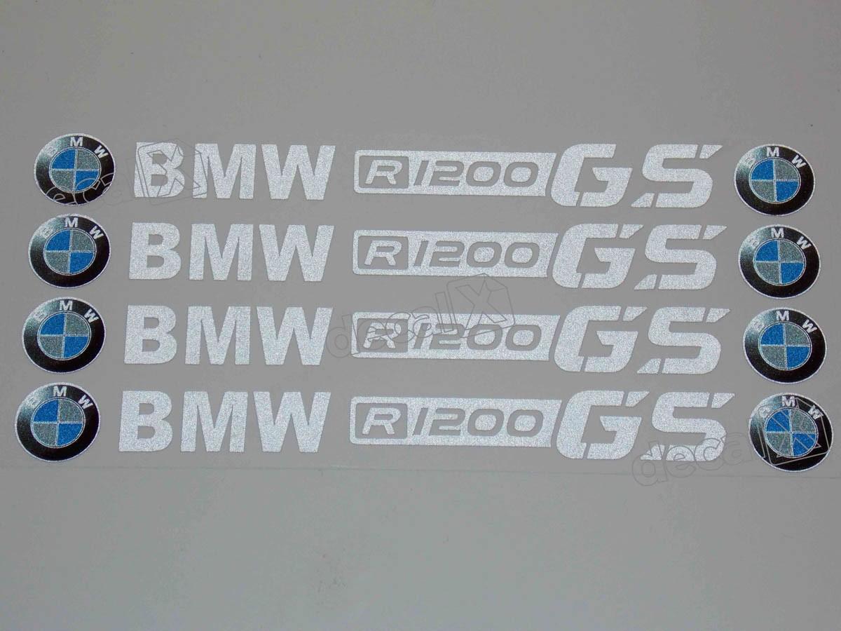Adesivos Centro Roda Refletivo Moto Bmw R1200 Gs Rd9 Decalx