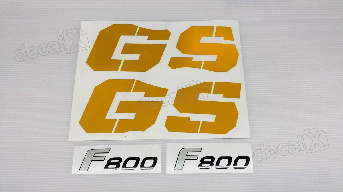 Emblema Adesivo Bmw F800gs 2009 Amarela Par Decalx