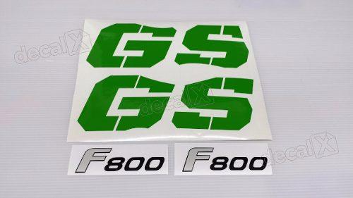 Emblema Adesivo Bmw F800gs 2009 Verde Par Decalx