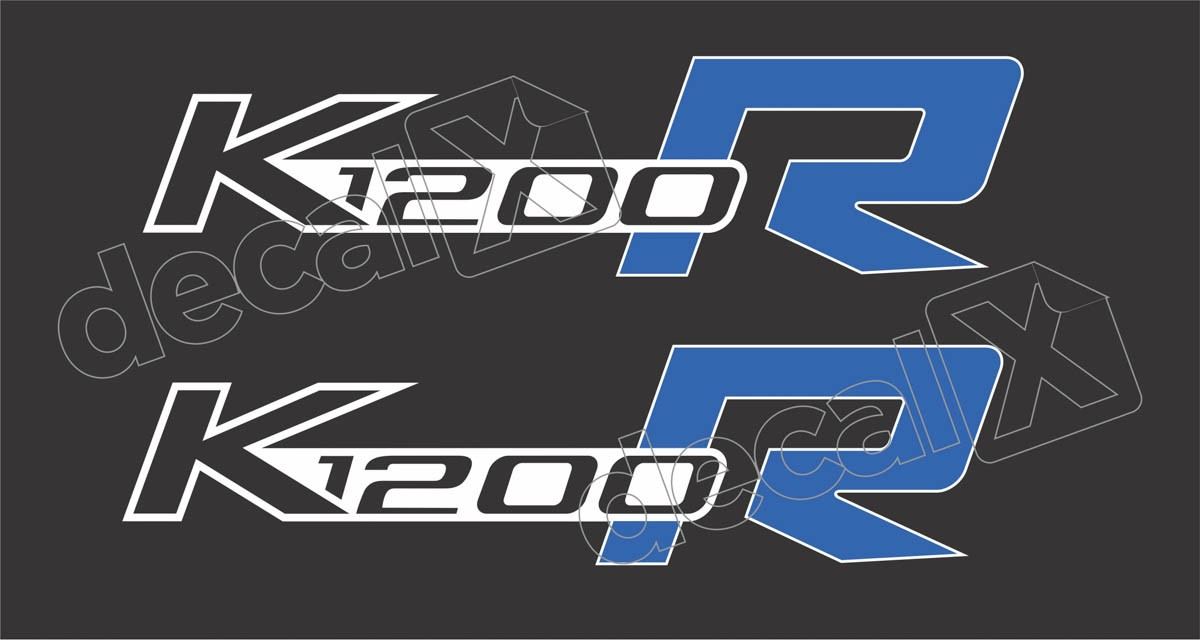 Emblema Adesivo Bmw K1200r Branca Par Decalx