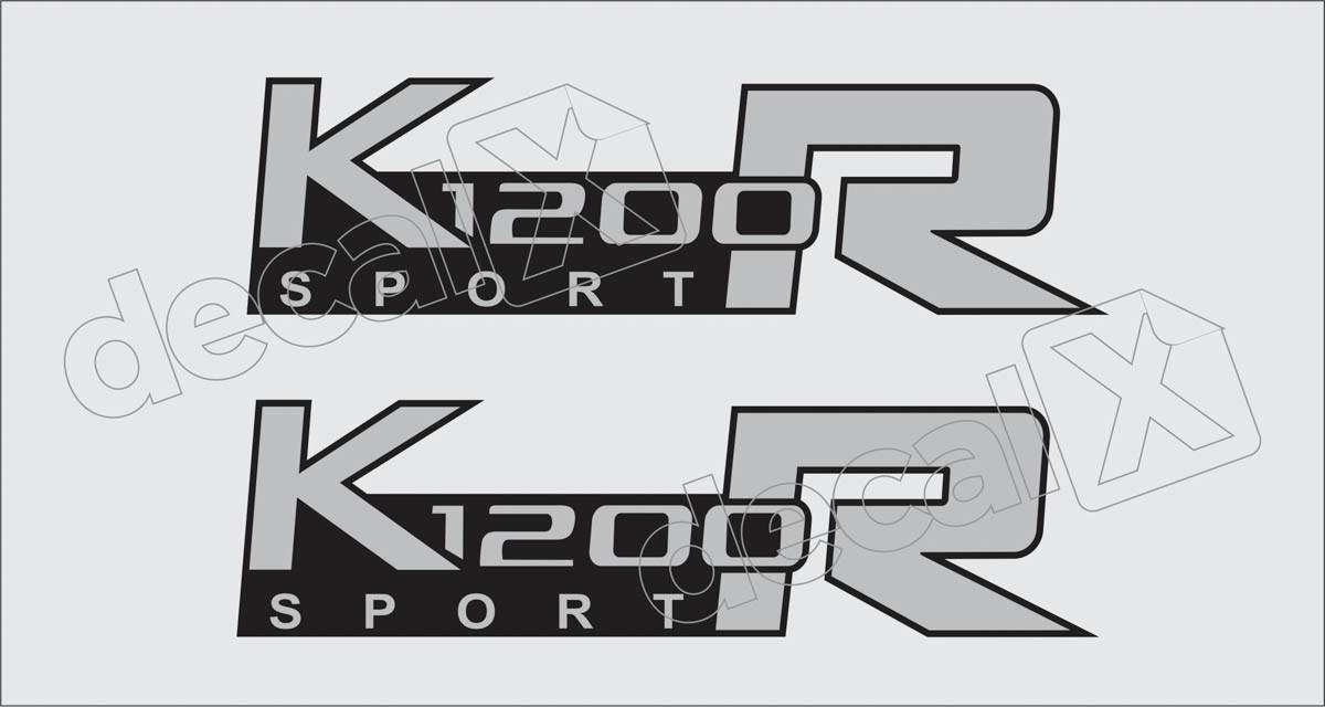 Emblema Adesivo Bmw K1200r Sport Prata Par Decalx