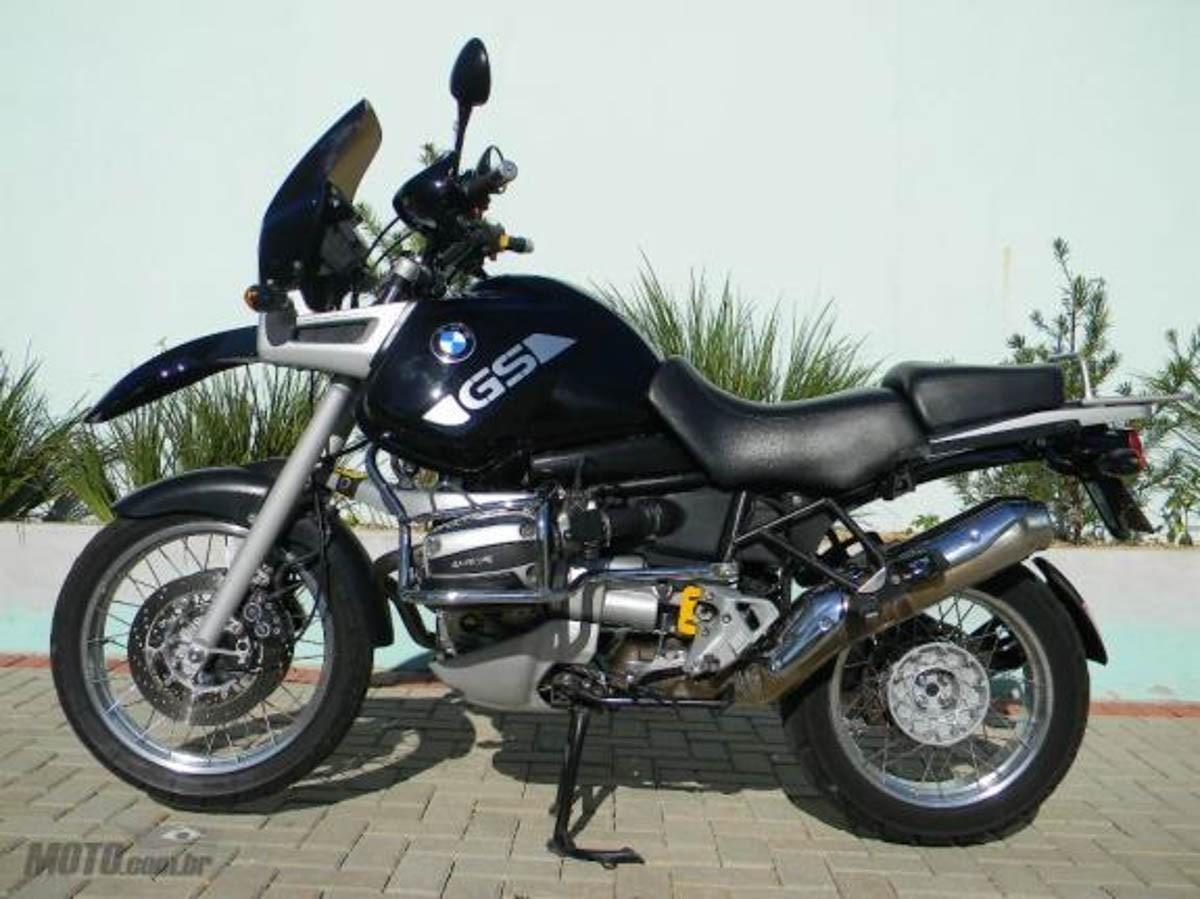 Emblema Adesivo Bmw R1100gs Preta Par Decalx