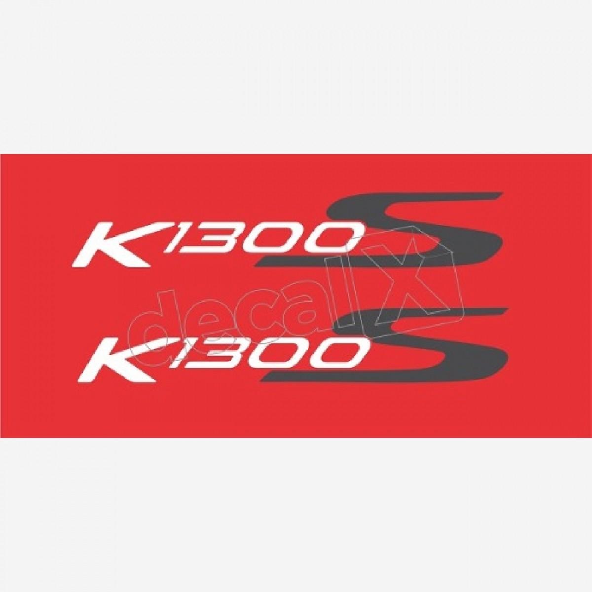 Emblema Adesivo Rabeta Bmw K1300s Vermelha Par Decalx