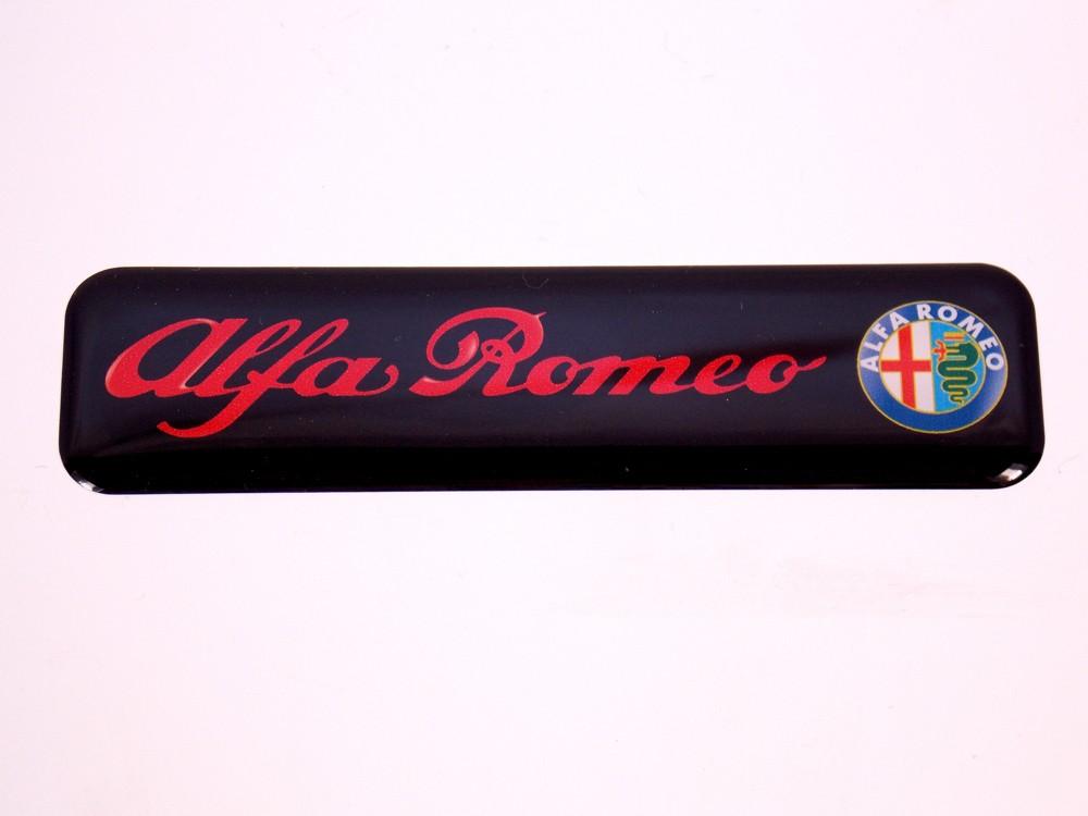 Emblema Adesivo Resinado Alfa Romeo Res7