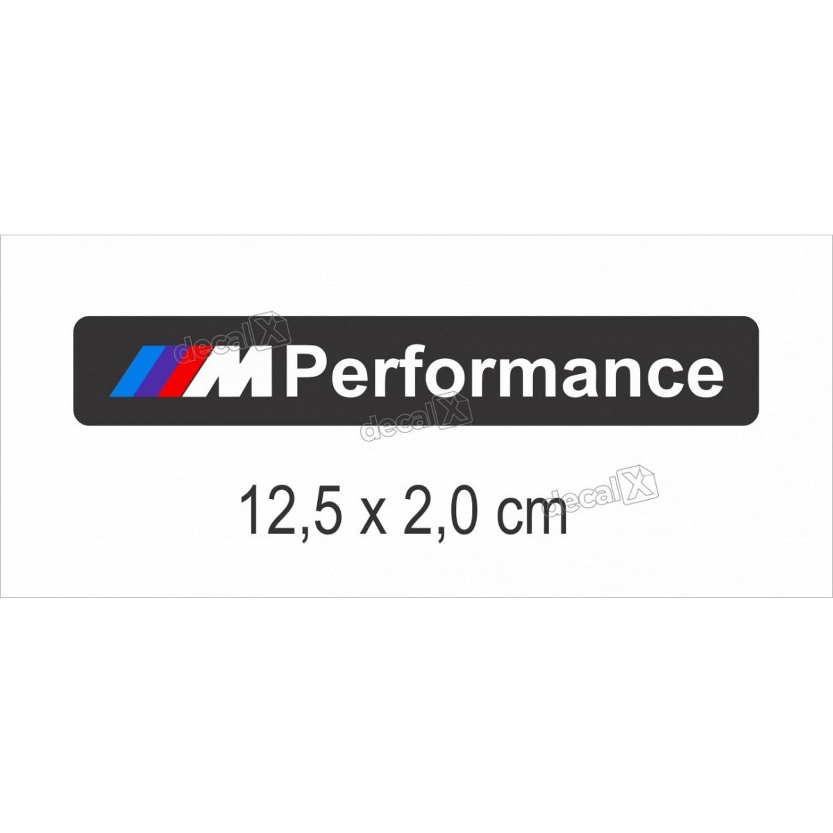Emblema Adesivo Resinado Bmw Performance Preto Decalx