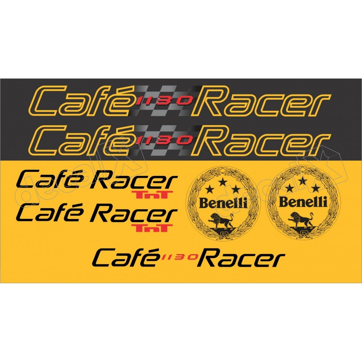 Kit Adesivos Benelli Tnt 1130 Cafe Racer Decalx
