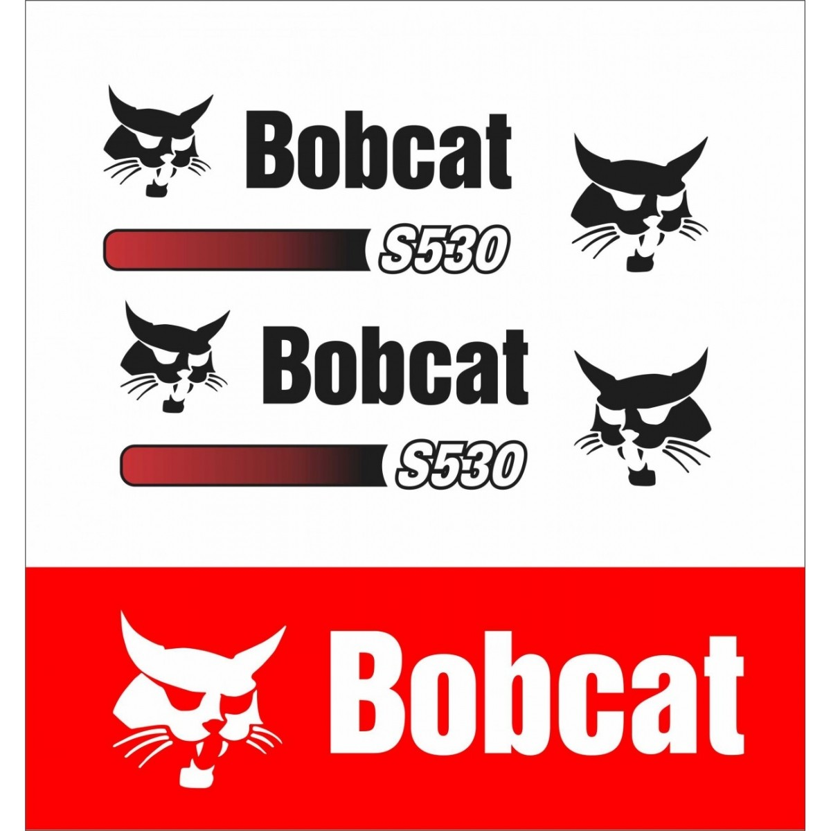 Kit Adesivos Bobcat S530 Decalx