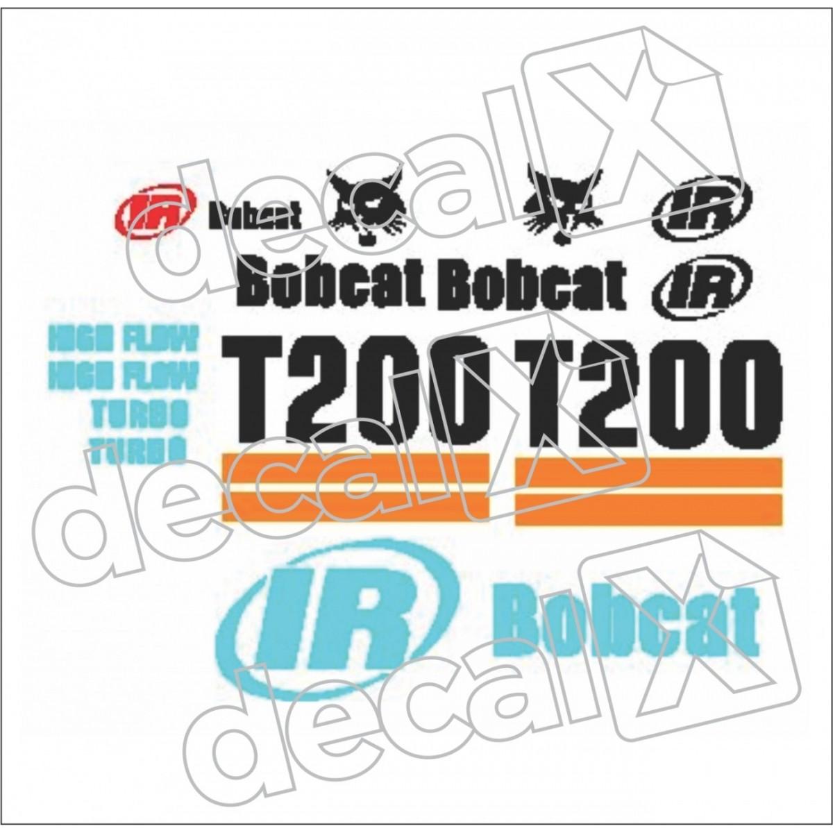 Kit Adesivos Bobcat T200 Decalx