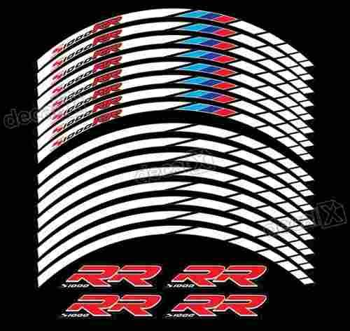 Kit Adesivos Friso Refletivo Roda Moto Bmw S1000rr Fri024