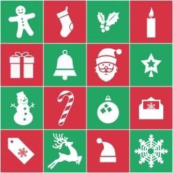 Adesivo de Azulejo Natal