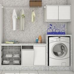 Adesivo de Parede Bolhas roupa de lavar