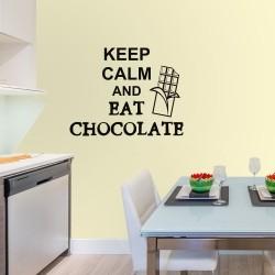 Adesivo de Parede Keep Calm and Eat Chocolate