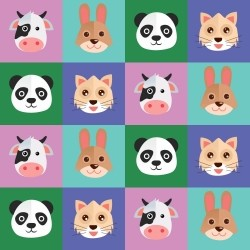 Adesivo para Azulejo Face Animals