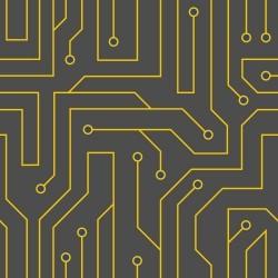Papel de Parede Black Circuit