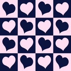 Papel de Parede Coração Xadrez