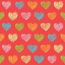 Papel de Parede Corações Candy