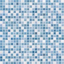Papel de Parede Ladrilhos azul