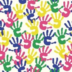 Papel de Parede Mãos Pintadas