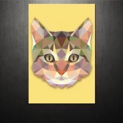 Poster Triangle Cat