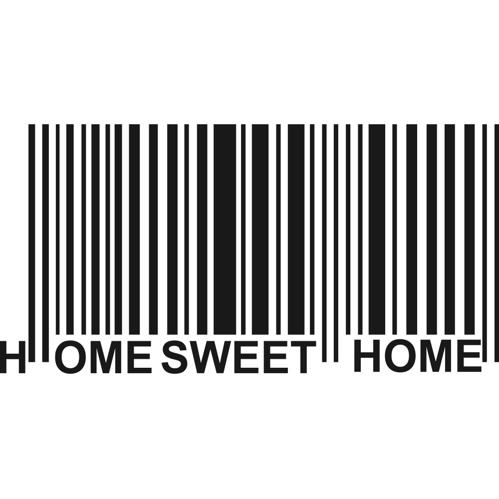 Adesivo de Parede Código de barras sweet