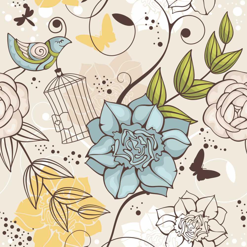 Papel de Parede Floral Aldan
